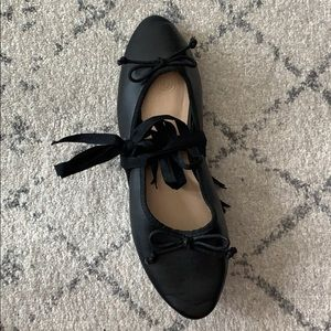 Urban Outfitters Lace Up Ballet Flats